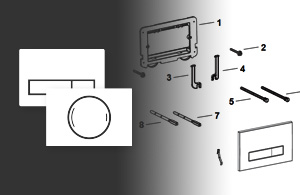 Spare parts for flush plates